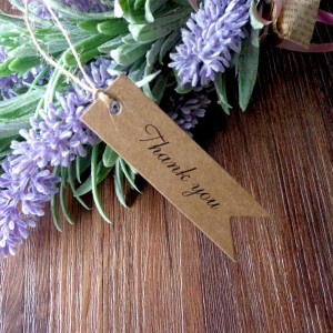 """""""Thank You"""" Brown Kraft Tag for Wedding Party Favors (0.75 inches x 2.75 inches) [2630 Tags/Lot]"""