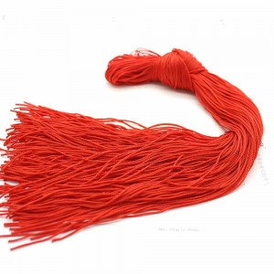 Thin Red String for Tassles Decorations and Wrapping (0.25 inches x 24 inches) [4000 Strings/Lot]