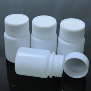 """White Polyethylene (PE) Supplement Pill Capsules Bottles (1.25""""x2.25"""") - 800 Bottles/Lot"""
