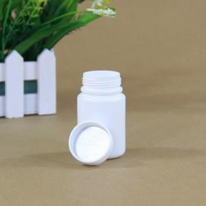 "White High-Destiny Polyethylene (HDPE) Empty Medicine Pill Bottle Container (1.5""x2.5"") - 500 Bottles/Lot"