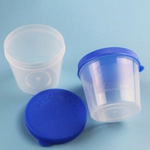 "Blue Polypropylene (PP) Doctors Office Specimen Sample Containers (1.75""x1.75"") - 400 Bottles/Lot"