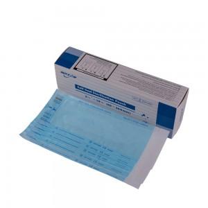 "Blue Dialysis Paper + Composite Film Sterilization Self-Sealing Pouch Bags (3.5""x10"") - 4200 Bags/Lot"