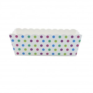 Small Colorful Polka-Dot Baking Loaf Pans (300 Pans/Lot)