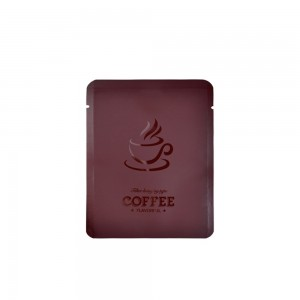 Brown Coffee Imprint Design Mylar Foil Flat Open Bottom Bags 10 cm x 12 cm [4 inches x 4.7 inches] (500 Bags/Lot)