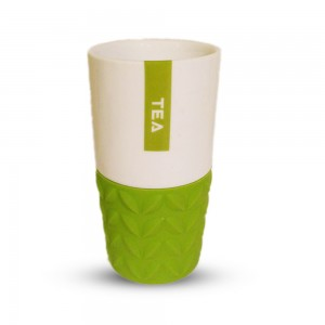Flow Mug with Removable Tea Leaves Design Silicone Sleeves (6 Mugs/Lot)