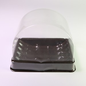 Brown Based w/ Clear Arch Lid Single-Serving To-Go Display Roll Cake Containers (600 Containers/Lot)