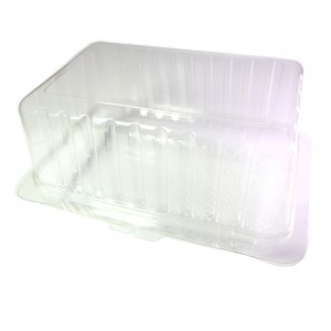 Clear Smooth Wall Hinged Pastry Container w/ Clamshell (600 Containers/Lot)