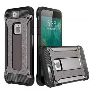IPhone 7 Plus / IPhone 8 Plus Hybrid Dual Layer Shockproof Case Black