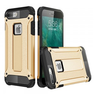 IPhone 7 Plus / IPhone 8 Plus Hybrid Dual Layer Shockproof Case Gold