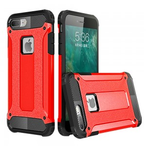 IPhone 7 Plus / IPhone 8 Plus Hybrid Dual Layer Shockproof Case Red