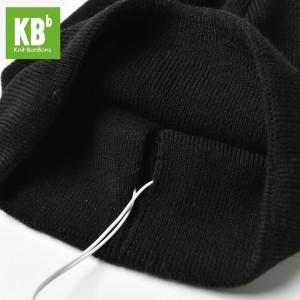 KBB Black Headphone Beanie Hat (3 Hats/Lot)