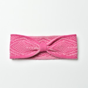 KBB Soft lambswool Pink and White Knotted Knitted Headband (3 Headbands/Lot)