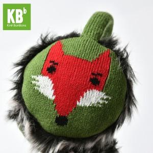 KBB Green Earmuffs with Red Fox Design (3 Earmuffs/Lot)