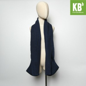 KBB Sapphire Blue Knitted Neck Warmer Scarf w/ Pockets (3 Scarves/Lot)