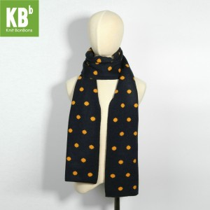 KBB Reversible Black & Orange Round Pattern Designs Neck Warmer Scarf (3 Scarves/Lot)