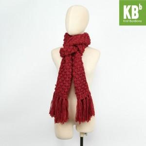 KBB Burgundy Red Big Lace Design Neck Warmer Scarf (3 Scarves/Lot)