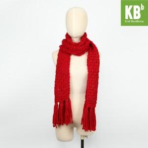 KBB Red Big Lace Design Neck Warmer Scarf (3 Scarves/Lot)