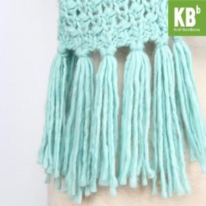 KBB Sky Blue Big Lace Design Neck Warmer Scarf (3 Scarves/Lot)