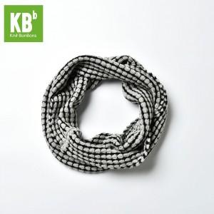 KBB Light Gray & Black Stripe Design Neck Warmer Snood (3 Snoods/Lot)