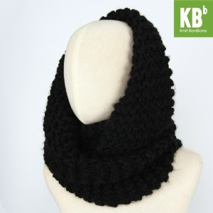 KBB Black Knot Braided Neck Warmer Snood (3 Snoods/Lot)