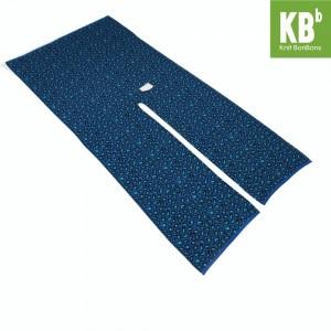 KBB Soft Acrylic Blue Leopard Print Knitted Top Shawl Wrap (3 Shawls/Lot)