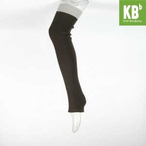 KBB Soft Acylic Light Gray Band Black Leg Warmers (3 Leg Warmers/Lot)