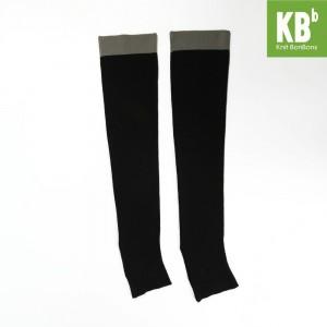 KBB Soft Acylic Gray Band Black Leg Warmers (3 Leg Warmers/Lot)