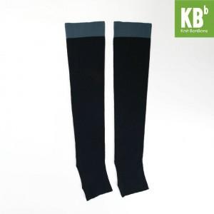 KBB Soft Acylic Blue Band Black Leg Warmers (3 Leg Warmers/Lot)