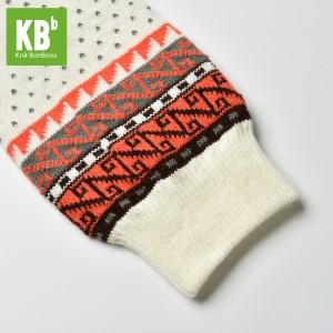 KBB Soft Acylic White Salmon Pink Gray Aztec Design Leg Warmers (3 Leg Warmers/Lot)
