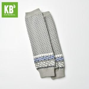 KBB Soft Acylic Gray Blue White Aztec Design Leg Warmers (3 Leg Warmers/Lot)