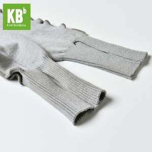 KBB Soft Acylic Gray Frilly Frills Design Leg Warmers (3 Leg Warmers/Lot)