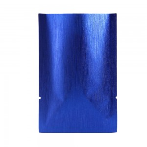 Blue Texture Rice Paper Mylar Foil Flat Open Top Bags 12 cm x 18 cm [4.7 inches x 7.1 inches] (500 Bags/Lot)
