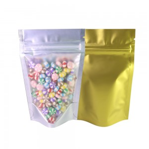 Translucent & Gold Metallic Foil Stand-Up Ziplock Bags 8.5 cm x 13 cm [3.3 inches x 5.1 inches] (500 Bags/Lot)