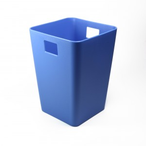 Flow Blue Mini Waste Bin Desktop Garbage Basket Table Home Office Paper Trash Can (4 Bins/Lot)