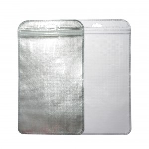 Clear Silver White Poly Non-Woven Clothing Storage Ziplock Bags with Triangle Hang Hole 7 inches x 11 inches (150 Bags/Lot)
