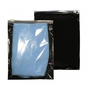 Clear & Black Poly Plastic Clothing Storage Slider Bags 6 inches x 8 inches (150 Bags/Lot)