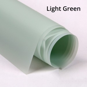 Semi-Frosted Green Gift Wrapping Papers for Flower Bouquet, Wedding, Birthday (100 sheets/lot)