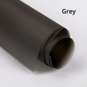 Semi-Frosted Grey Gift Wrapping Papers for Flower Bouquet, Wedding, Birthday (100 sheets/lot)