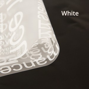 Clear Frosted With White Text Gift Flower Wrapping Paper (5 packs per lot)
