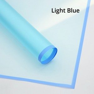 Plastic Light Blue Frosted Gift & Flower Wrapping Papers (5 packs per lot)