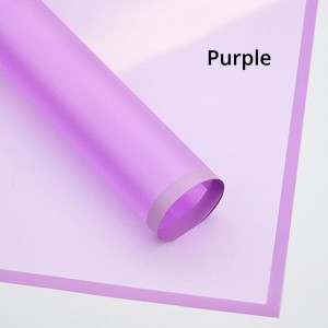 Plastic Purple Frosted Gift & Flower Wrapping Papers (5 packs per lot)
