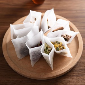 New Non-Woven Loose Tea Filter Disposable Open Top Bags [6 x 8 cm (2.25x3.25in)] (5 packs per lot)