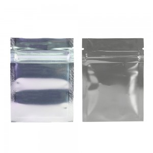 Clear Front/Silver/Silver Back Flat Mylar Foil Ziplock Bags 6.5 cm x 9 cm [2.56 inches x 3.5 inches] (500 Bags/Lot)