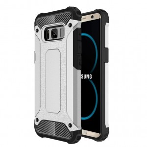 Samsung Galaxy S8 Plus / S8 Edge Armor Hybrid Dual Layer Shockproof Touch Case Cover Silver
