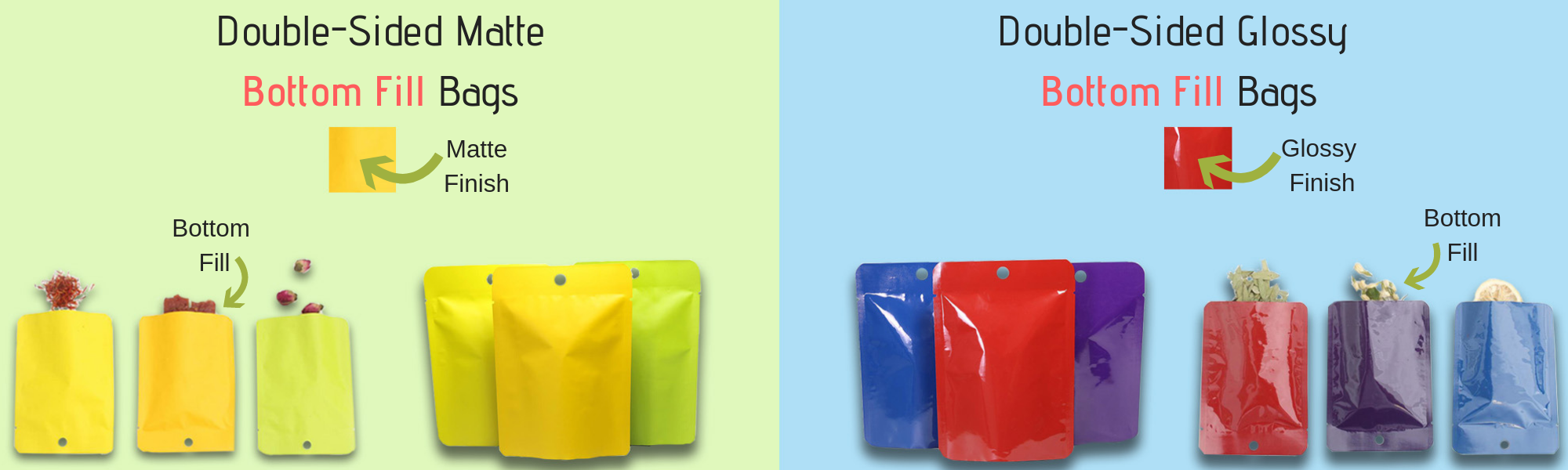 Colorful Open Bottom Hanghole Bags