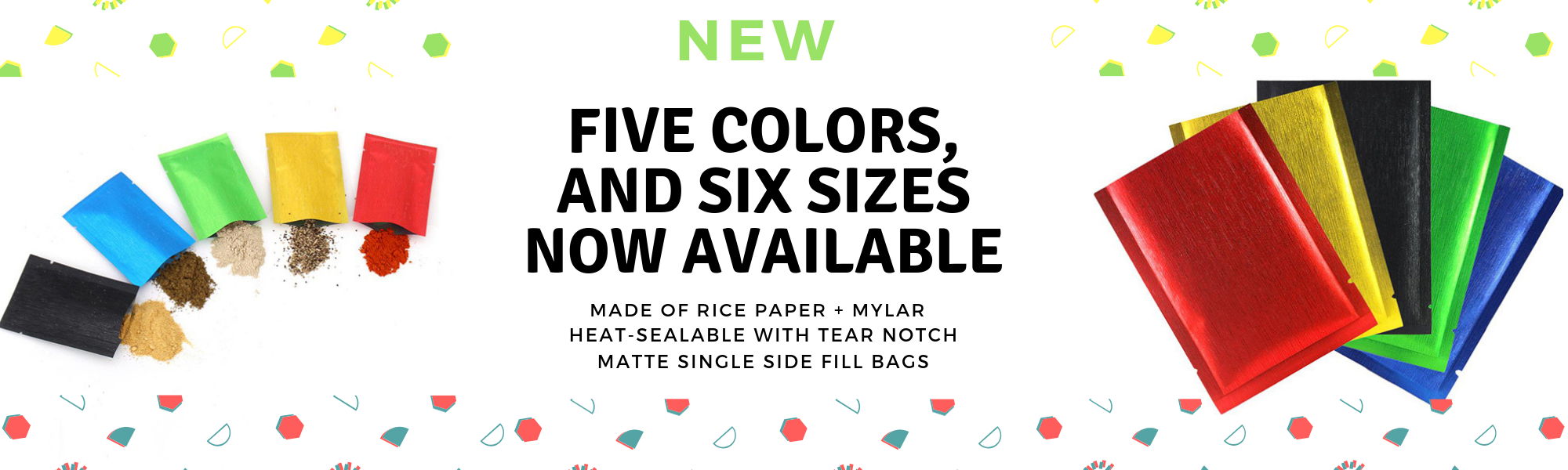 Colorful Rice Paper Heat Seal Bags