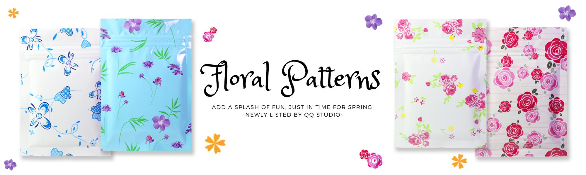 Floral Pattern Ziplock Storage Bags