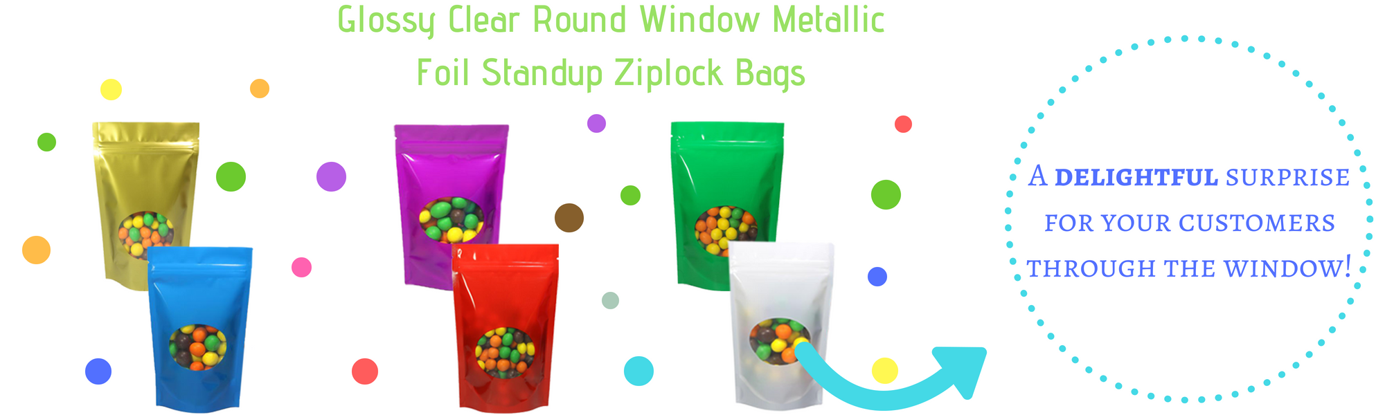 Stand Up Glossy Window Storage Bags